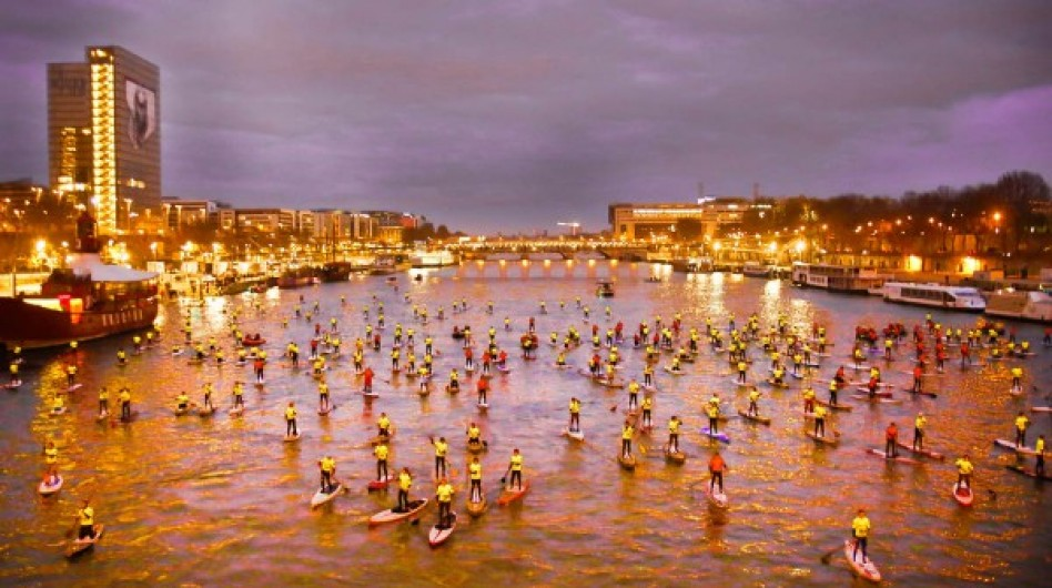 Stand Up Paddle Paris Crossing : Valérie Dubus y était !